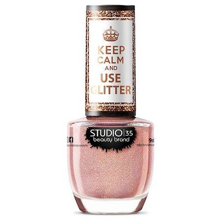 Esmalte Keep Calm And Use Glitter Coisa Linda - Studio 35
