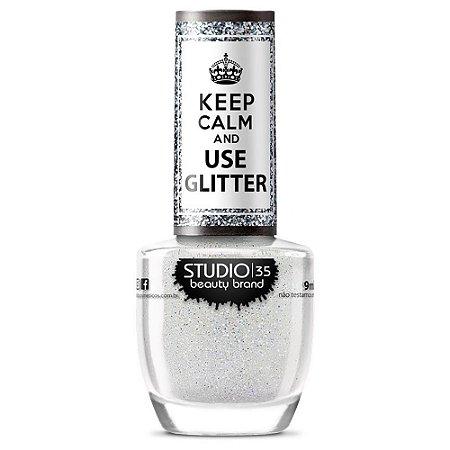 Esmalte Keep Calm And Use Glitter Cristais de Gelo - Studio 35