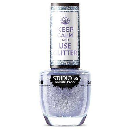 Esmalte Keep Calm And Use Glitter Sonho de Glitter - Studio 35