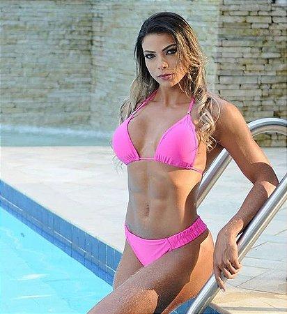 b6ed1949d992 Conjunto biquíni rosa - Patricia Saraiva