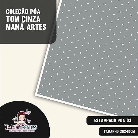 COLEÇÃO POÁS - TONS CINZA by MANÁ ARTES