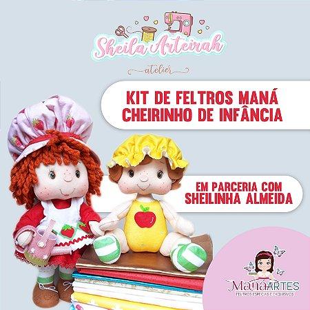 KIT DE FELTROS - CHEIRINHO DE INFÂNCIA by SHEILA ALMEIDA