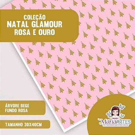 COLEÇÃO NATAL GLAMOUR - ROSA E OURO