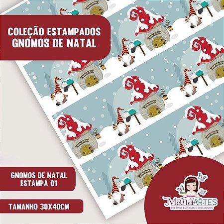 COLEÇÃO ESTAMPADOS - GNOMOS DE NATAL