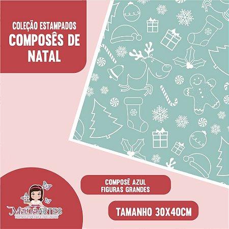 COLEÇÃO COMPOSÊ DE NATAL - AZUL