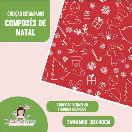 COLEÇÃO COMPOSÊ DE NATAL - VERMELHO