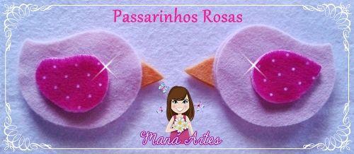 PASSARINHOS EM FELTRO - CORTES