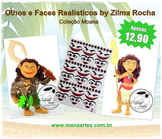 KIT OLHOS MOANA by Zilma Rocha