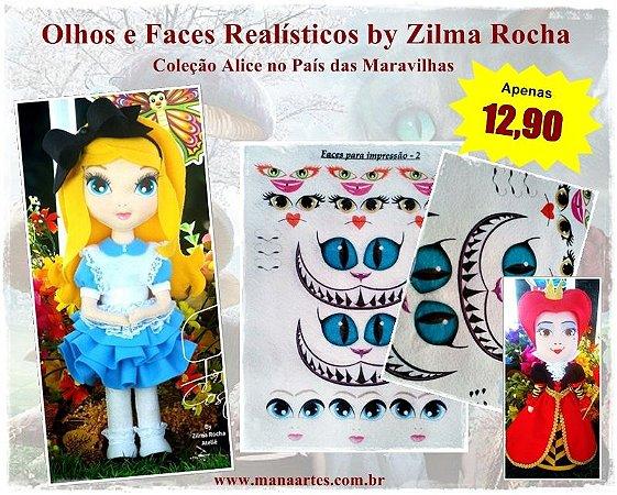 KIT OLHOS ALICE NO PAÍS DAS MARAVILHAS by Zilma Rocha