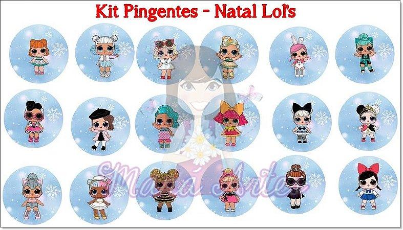KIT PINGENTES - NATAL LOL'S