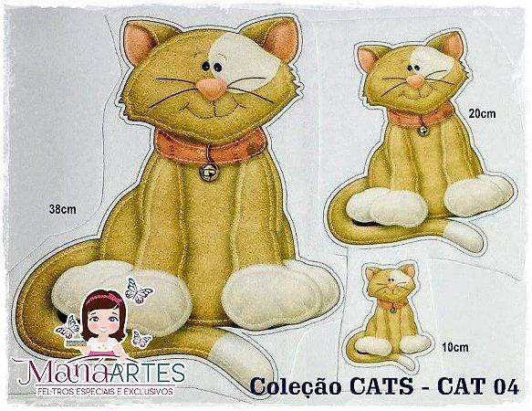 SCRAP FELT CATS - BONECOS 20cm