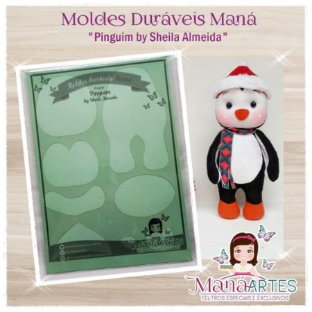Moldes Duravéis - PINGUIM by Sheila Almeida