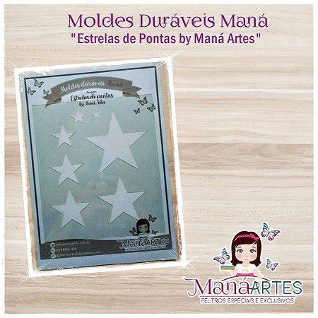 Moldes Duráveis - ESTRELA DE PONTAS by Maná Artes