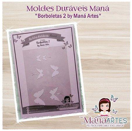 Moldes Duráveis - BORBOLETAS MOD.2 by Maná Artes