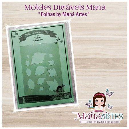 Moldes Duráveis - FOLHAS by Maná Artes