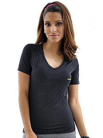 T Shirt Camiseta Mama Latina Gola V Running Preta