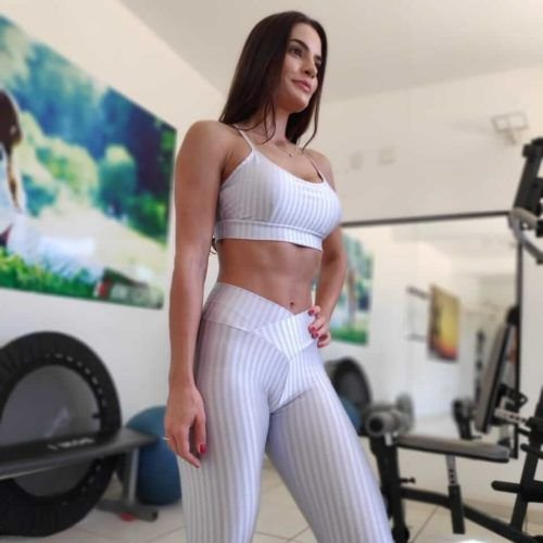 Calça Legging Carioca Fit Empina Bumbum Cirrê 3D Metalizado Prata