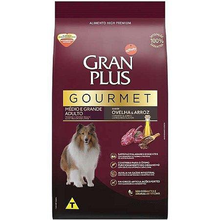 Ração GranPlus Gourmet Ovelha & Arroz para Cães Adultos Raças Médias e Grandes
