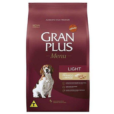 Ração Affinity PetCare Gran Plus Menu Light Frango e Arroz para Cães Adultos