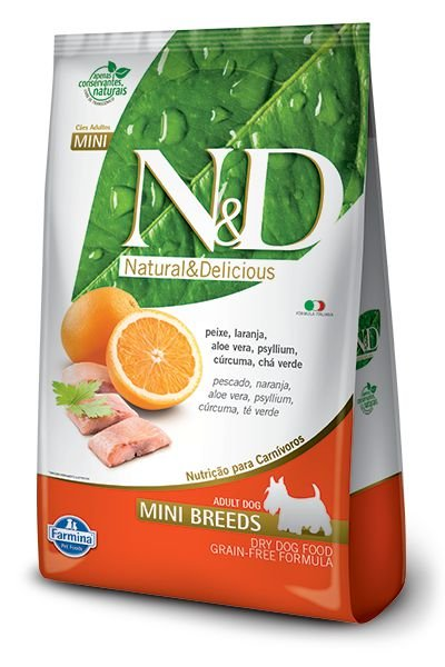 N&D Grain Free Peixe e Laranja Para Cães Adultos Mini