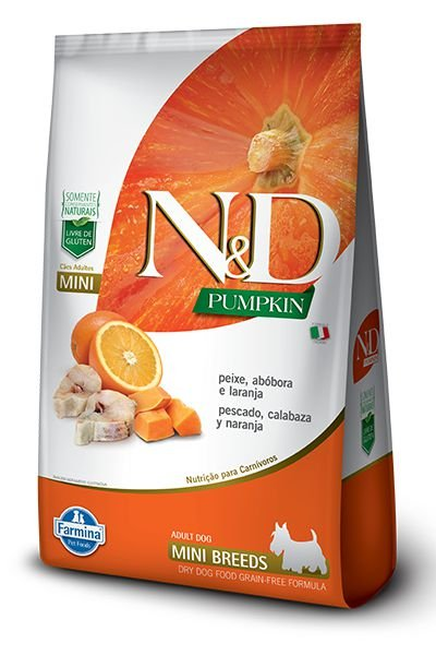 Ração N&D Pumpkin Peixe, Abóbora E Laranja Para Cães Adultos De Raças Pequenas