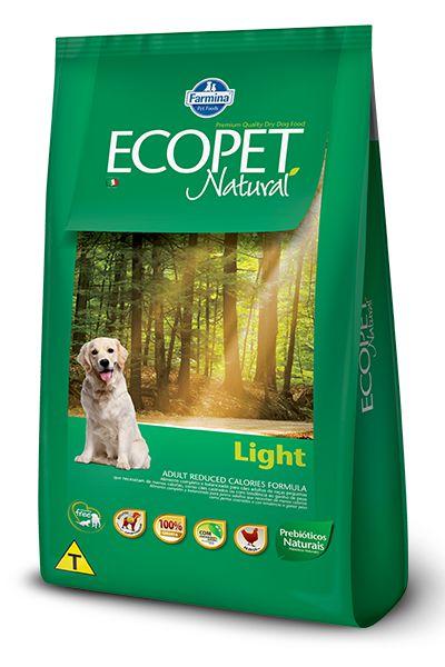 Ração Farmina Ecopet Natural Light para Cães Adultos de Raças Médias e Grandes