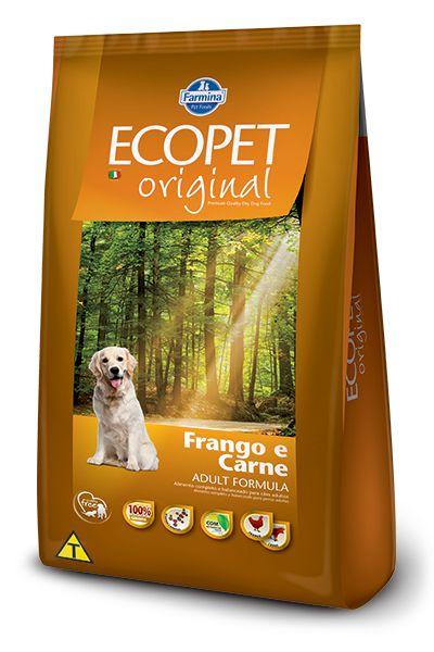 Ração Farmina Ecopet Original Carne e Frango para Cães Adultos