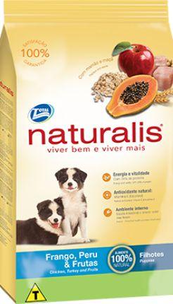 Ração Total Naturalis Frango,Peru e Frutas para Cães Filhotes
