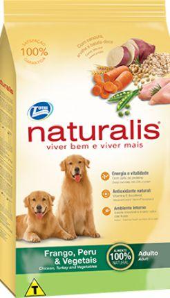 Ração Total Naturalis Frango,Peru e Vegetais para Cães Adultos
