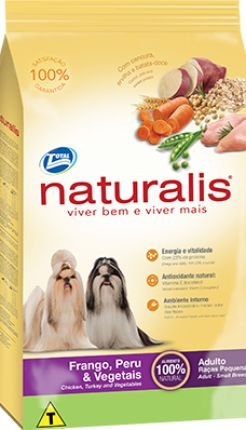 Ração Total Naturalis Frango,Peru e Vegetais para Cães Adultos Raças Pequenas