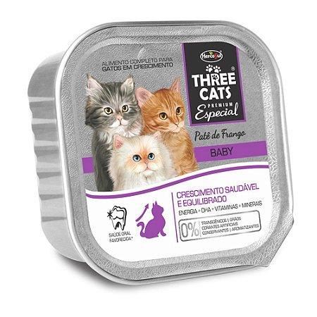 Patê Hercosul Three Cats Baby Frango para Gatos Filhotes