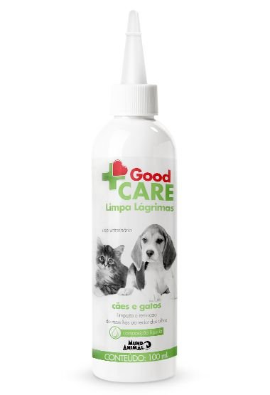 Limpa Lágrimas Mundo Animal Good Care para Cães e Gatos 100 ml