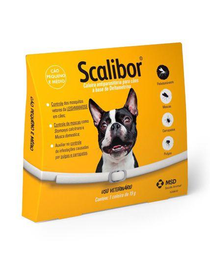 Coleira MSD Antiparasitária Scalibor Para Cães de Pequeno e Médio Porte - 48 cm