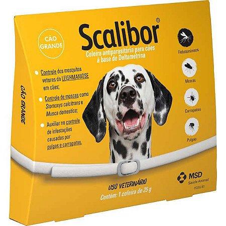 Coleira MSD Antiparasitária Scalibor Para Cães de Grande Porte - 65 cm