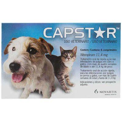 Antipulgas Novartis Capstar 11mg para Cães e Gatos de até 11kg