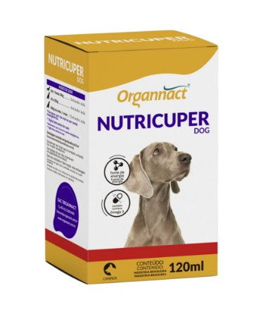 Suplemento Vitamínico Hipercalórico Organnact Nutricuper Dog 120ml