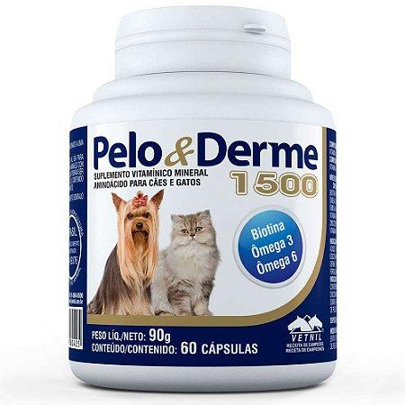 Pelo E Derme Para Cães E Gatos 1500Mg Dha+Epa 60 Cápsulas - Vetnil