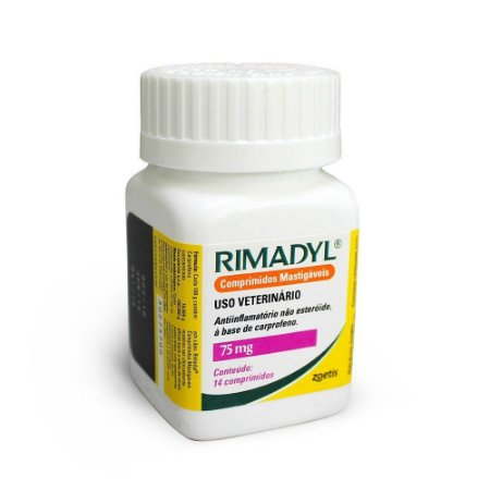Anti-inflamatório Zoetis Rimadyl de 14 Comprimidos - 75 mg