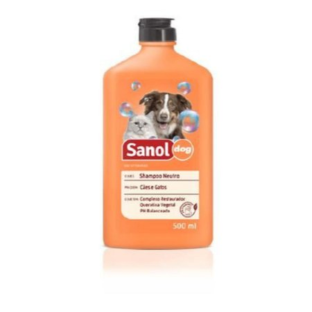 Shampoo Neutro 500ml Sanol Dog