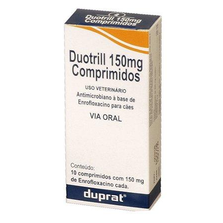 ANTIMICROBIANO DUOTRILL 150MG PARA CÃES E GATOS COM 10 COMPRIMIDOS - DUPRAT