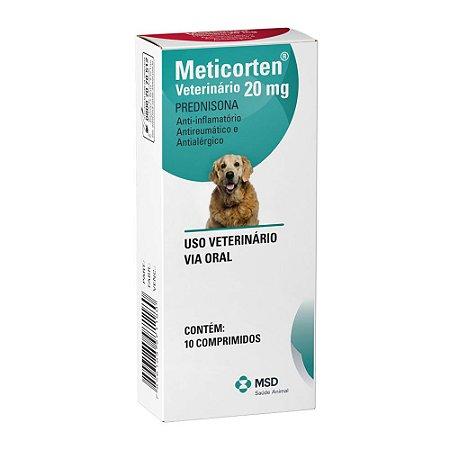 Anti-inflamatório Meticorten para Cães 20mg