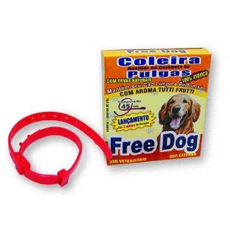 Coleira Anti Pulgas Para Cães Adulto Free Dog