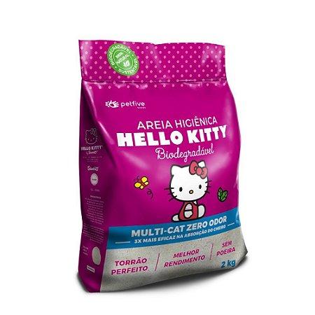 Areia Higiênica Hello Kitty Biodegradável Rosa