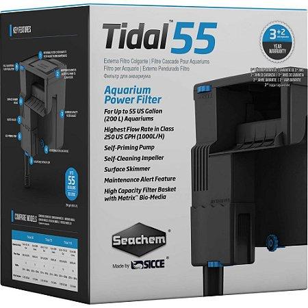 Seachem Filtro Tidal 55 Para aquários de até 200 Litros Vazão 1000 L/h