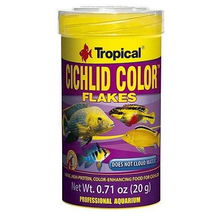 Ração Premium Ciclídeos Tropical Cichlid Color Flakes