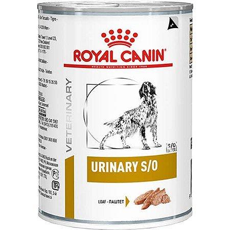 Ração Royal Canin Lata Canine Veterinary Diet Urinary S/O 410 g