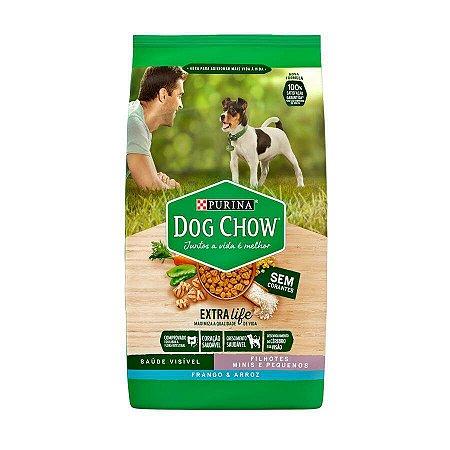 Ração Dog Chow para Cães Filhotes de Raças Pequenas Sabor Frango e Arroz