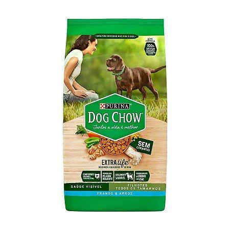 Ração Dog Chow para Cães Filhotes Sabor Frango e Arroz