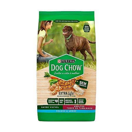 Ração Dog Chow para Cães Adultos Sabor Frango e Arroz