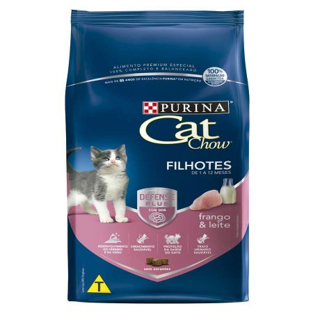 Ração Nestlé Purina Cat Chow para Gatos Filhotes sabor Frango e Leite